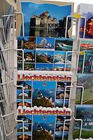 Liechtenstein  Vaduz  June 2008.A post card showing the Liechtenstein..