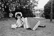 Nashville, Tennessee. June 10th, 1977. This photograph was taken of Yvette Horner in Nashville, Tennessee, where she was scheduled to play at the Ole Opry. Yvette Horner (born September 22nd, 1922) is a renown French accordionist, whose career has spanned over 70 years. She has given thousands of concerts around the world and sold over 30 million records.
