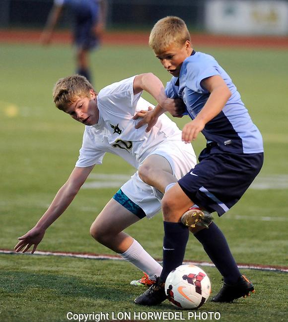 Skyline at Huron, boy's varsity soccer, Thursday, September 11, 2014.