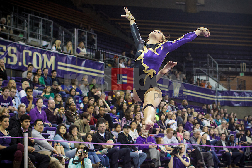 Amanda Cline-University of Washington Huskies gymnastics team takes on San Jose State University and Central Michigan at Alaska Airlines Arena in Seattle Mar. 9, 2012. (Photos by Andy Rogers/Red Box Pictures)