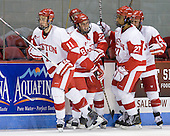 Patrick MacGregor (BU - 11), Ben Rosen (BU - 8), (Gaudet), Yasin Cissé (BU - 27), Andrew Glass (BU - 14) - The Boston University Terriers defeated the visiting University of Toronto Varsity Blues 9-3 on Saturday, October 2, 2010, at Agganis Arena in Boston, MA.