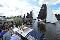 ZEILEN: DE VEENHOOP: Grytmansrak, Ie, 01-08-2016, SKS skûtsjesilen, Walstart in het Grytmansrak, ©foto Martin de Jong