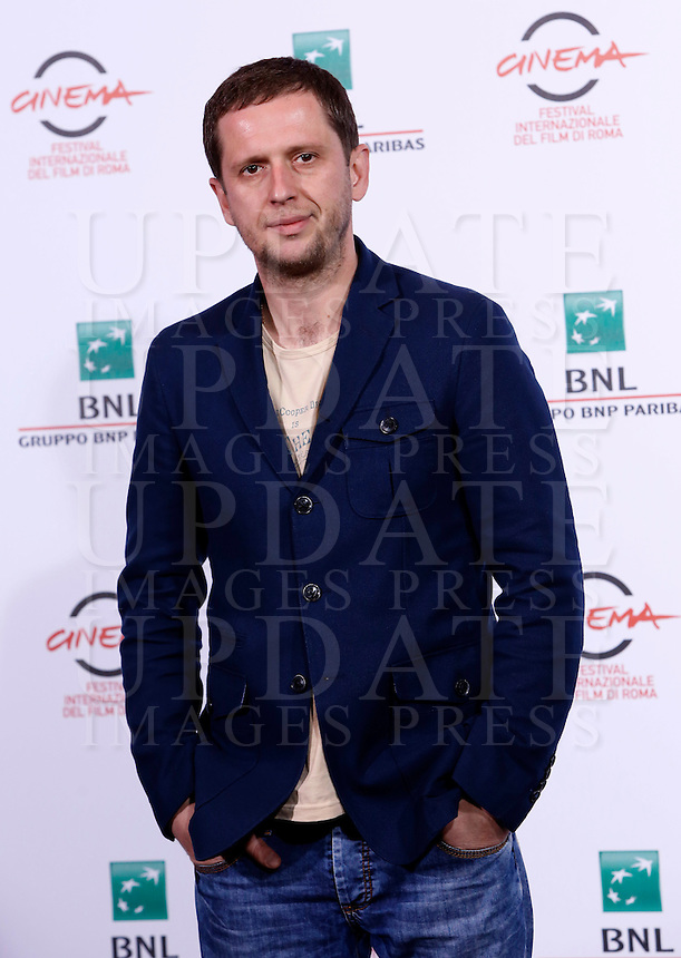 L'attore Pavel Basov posa durante un photocall per la presentazione del film &quot;Angeli della rivoluzione&quot; al Festival Internazionale del Film di Roma, 22 ottobre 2014.<br /> Actor Pavel Basov poses during a photocall to present the movie &quot;Angely Revolucii&quot; (&quot;Angels of Revolution&quot;) during the international Rome Film Festival at Rome's Auditorium, 22 October 2014.<br /> UPDATE IMAGES PRESS/Riccardo De Luca
