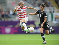 Newcastle, England - Friday, August 3, 2012: The USA women defeated New Zealand 2-0 in the quarterfinal round of the 2012 Olympics at St. James Park. Alex Morgan controls the ball.