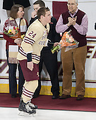 Bill Arnold (BC - 24) - The visiting University of Notre Dame Fighting Irish defeated the Boston College Eagles 2-1 in overtime on Saturday, March 1, 2014, at Kelley Rink in Conte Forum in Chestnut Hill, Massachusetts.