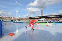 SCHAATSEN: AMSTERDAM: Olympisch Stadion, 02-03-2014, KPN NK Sprint/Allround, Coolste Baan van Nederland, Jorien Voorhuis, ©foto Martin de Jong