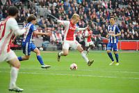 VOETBAL: AMSTERDAM: 16-04-2017, AJAX - SC Heerenveen, uitslag 5 - 1, Kasper Dolberg, ©foto Martin de Jong