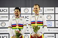 Picture by Simon Wilkinson/SWpix.com - 02/03/2017 - Cycling 2017 UCI Para-Cycling Track World Championships, Los Angeles USA - Winners SPAIN - AVILA RODRIGUEZ Ignacio FONT BERTOLI Joan,<br /> branding