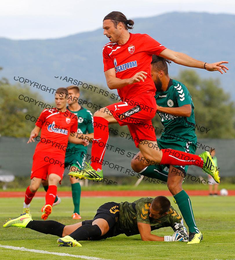 Fudbal season 2013-2014<br /> FK Crvena Zvezda pripreme<br /> Crvena Zvezda v Krka<br /> Djordje Rakic (C)<br /> Novo Mesto, 07.12.2014.<br /> foto: Srdjan Stevanovic/Starsportphoto &copy;