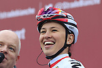 Polish National Champion Katarzyna Niewiadoma (POL) WM3 Pro Cycling Team at sign on before the start of the Ladies 2017 Strade Bianche running 127km from Siena to Siena, Tuscany, Italy 4th March 2017.<br /> Picture: Eoin Clarke | Newsfile<br /> <br /> <br /> All photos usage must carry mandatory copyright credit (&copy; Newsfile | Eoin Clarke)