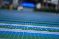 blue green tiles at new marlins stadium