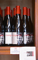 cuvee a la comporte. Embres et Castelmaure Cave Cooperative co-operative. Les Corbieres. Languedoc. The wine shop and tasting room. France. Europe. Bottle.