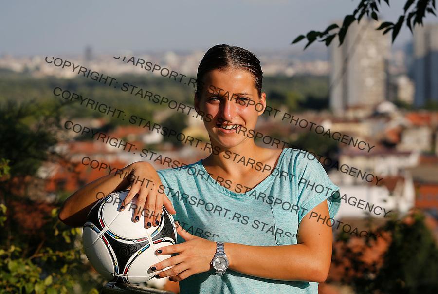 Fudbal Soccer<br /> Jelena Cankovic fudbaler FC Barcelona Barselona<br /> Beograd, 23.07.2013.<br /> foto: Srdjan Stevanovic/Starsportphoto &copy;