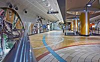 North Hollywood CA, Subway Station panorama