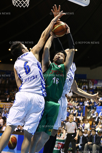Keijuro Matsui (Toyota),<br /> MAY 25, 2015 - Basketball : <br /> National Basketball League &quot;NBL&quot; Playoff FINALS 2014-2015 <br /> GAME 3 match between <br /> TOYOTA ALVARK TOKYO 69-81 AISIN SeaHorses Mikawa<br /> at 2nd Yoyogi Gymnasium, Tokyo, Japan. <br /> (Photo by Shingo Ito/AFLO SPORT)