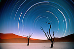 Star trails, Sossuvlei, Namibia<br />