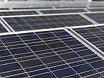 Polycrystalline solar panels close-up