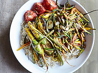 Cardamom-infused Rice with Roasted Root Vegetables