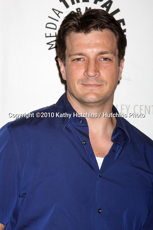 "Nathan Fillion.arrives at the ""An Evening With Castle""  .Paley Center For Media.Los Angeles, CA.March 16, 2010.©2010 Kathy Hutchins / Hutchins Photo...."