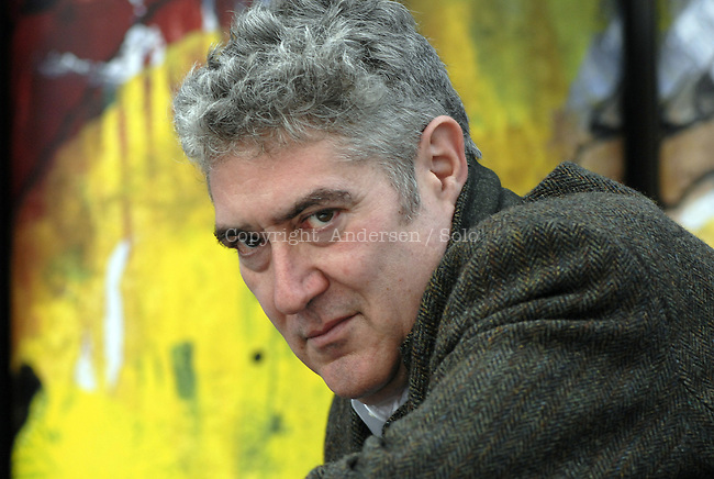 Spanish author Quim Monzo at book fair in Frankfurt.