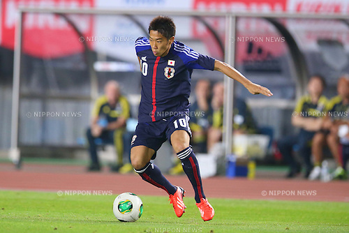 Shinji Kagawa (JPN), AUGUST 14, 2013 - Football / Soccer : <br /> KIRIN Challenge Cup 2013 match <br /> between Japan 2-4 Uruguay <br /> at Miyagi Stadium, Miyagi, Japan.<br />  (Photo by AFLO SPORT)
