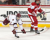 Luke McInnis (BC - 3), Patrick Curry (BU - 11) - The visiting Boston University Terriers defeated the Boston College Eagles 3-0 on Monday, January 16, 2017, at Kelley Rink in Conte Forum in Chestnut Hill, Massachusetts.