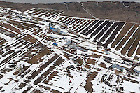 Farms in Isle-aux-Grues are pictured in this aerial photos  March 19, 2010.    The only inhabited island among the twenty-one which make up the Isle-aux-Grues archipelago, Isle-aux-Grues is an island situated on the Saint Lawrence River, measuring approximately 7 kilometres by 2 kilometres.