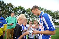VOETBAL: DE KNIPE: 16-07-2013, Oefenwedstrijd SC Heerenveen - Leuven, nieuwe speler Magnus Wolff Eikrem (NOR), Einduitslag 2-1, ©foto Martin de Jong