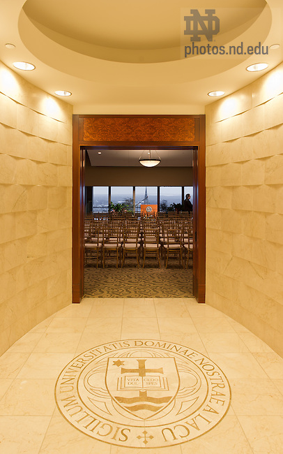 Feb. 6, 2013; Vestibule to the Hesburgh Library Penthouse..Photo by Matt Cashore/University of Notre Dame