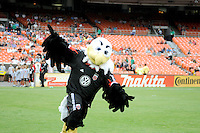 D.C. United mascot Talon. D.C. United tied The Philadelphia Union 1-1 at RFK Stadium, Saturday August 19, 2012.