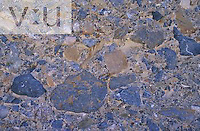 Pattern in conglomerate rock, Mosaic Canyon, Mojave Desert. Death Valley National Park, Californa