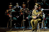 A balalaika player of the Russian Army Choir ?Alexandrov Ensemble? performs during a concert given in Loket, Czech Republic, 14 June 2009. Alexandrov Ensemble (established in 1928) is the official army choir of the Russian armed forces (Red Army). The ensemble consists of a male choir, a music orchestra and a dance ensemble. The music repertoire of Alexandrov Ensemble range from traditional Russian balalaika tunes to church hymns, Italian opera arias and pop music songs.