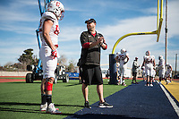 El Paso, TX - December 27, 2016: The Stanford Cardinal prepares for the Sun Bowl in El Paso, Texas.