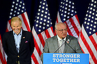 PEMBROKE PINES, FL - AUGUST 27: U.S. Senator for Florida Bill Nelson and Pembroke Pines Mayor Frank C. Ortis attend Democratic vice-presidential nominee Tim Kaine meeting with Local Mayors and Elected Officials for a policy Meeting at Southwest Focal Point Senior Center on August 27, 2016 in Pembroke Pines, Florida.  Credit: MPI10 / MediaPunch