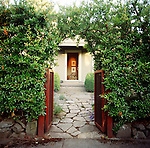 garden gate entrance to private home