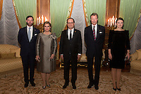 François Hollande during an official state visit to Luxembourg attends gala dinner