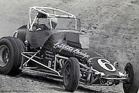 Jan Opperman races his 1976 USAC sprint car at Eldora Speedway, Rossburg, Ohio.