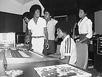 Michael Jackson & The Jacksons 1977 at studio in their Encino compound