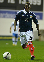 Islam Feruz in action in the Vauxhall International Challenge Match Scotland U21 vs Italy U21 at Easter Road, Edinburgh 25 April 2012
