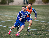 Washington, DC - March 24, 2015: Argentina practiced in preparation for their friendly against El Salvador at Georgetown University.