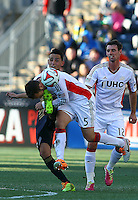 CHESTER, PA - March 15 2014: New England Revolution vs. Philadelphia Union in an MLS match at PPL Park, in Chester, PA.<br /> Union won 1-0.