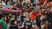 D.C. United fans.  Sporting Kansas City defeated D.C. United 1-0 at RFK Stadium,Saturday October 22, 2011.
