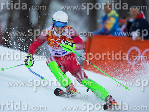 14.02.2014, Rosa Khutor Alpine Center, Krasnaya Polyana, RUS, Sochi 2014, Super- Kombination, Herren, Slalom, im Bild Carlo Janka (SUI) // Carlo Janka of Switzerland in action during the Slalom of the mens Super Combined of the Olympic Winter Games 'Sochi 2014' at the Rosa Khutor Alpine Center in Krasnaya Polyana, Russia on 2014/02/14. EXPA Pictures © 2014, PhotoCredit: EXPA/ Johann Groder