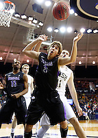 SOUTH BEND, IN - DECEMBER 21: T.J. Cline #0 of the Niagara Purple Eagles watches the ball go out of bounds against the Notre Dame Fighting Irish at Purcel Pavilion on December 21, 2012 in South Bend, Indiana. (Photo by Michael Hickey/Getty Images) *** Local Caption *** T.J. Cline