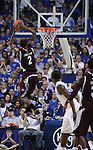 Raveen Johnson makes a dunk in the last minute of the second half of the UK men's basketball 85-79 win over Mississippi State at Rupp Arena on Tuesday, Feb. 15, 2011.  Photo by Britney McIntosh | Staff