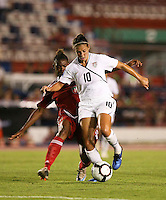 Action photo of Carl Lloyd of United States. The US Women's National Team defeated Haiti 5-0 during the CONCACAF Women's World Cup Qualifying tournament at Estadio Quintana Roo in Cancun, Mexico on October 28th, 2010.