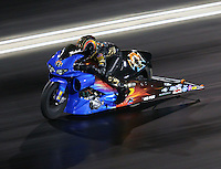Jul 23, 2016; Morrison, CO, USA; NHRA pro stock motorcycle rider Michael Ray during qualifying for the Mile High Nationals at Bandimere Speedway. Mandatory Credit: Mark J. Rebilas-USA TODAY Sports