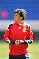 Marcos Paullo (32) of the New York Red Bulls during practice on Media Day at Red Bull Arena in Harrison, NJ, on March 15, 2011.