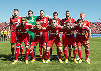 30 March 2013:The Toronto FC starting eleven during an MLS game between the LA Galaxy and Toronto FC at BMO Field in Toronto, Ontario Canada..The game ended in a 2-2 draw..
