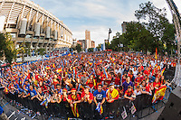 Panoramic of fans